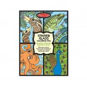 Set de colorat vitralii cu animale Melissa Doug