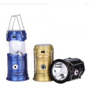 Camping 2 in 1- Portable Rechargeable Led Torch Light + Emergency Lamp Lantern-s Solar Lights