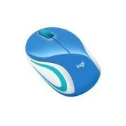Mini Mouse Logitech M187 Sem Fio Azul 1000DPI
