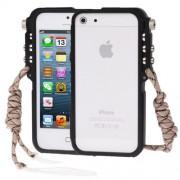 4th Design Trigger Aluminum Metallic Bumper Cases Cover for iPhone 5 & 5s & SE(Black)