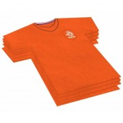 Geen 20x Voetbalshirt themafeest servetten oranje 16 x 15 cm papier