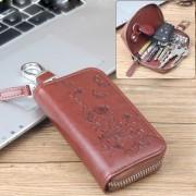 Univerzális övre csatolható cipzáras kulcstartó táska - PILLANGÓK VIRÁGOK