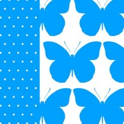 Lunchservet Bright Butterfly blue