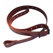 Andys Leather Rhodesian Slings - 1 Rhodesian Sling W/ Black Hardware No Swivels Chestnut