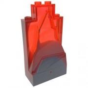 Parts/Elements - Rocks Lego Parts: Rock Panel 2 x 4 x 6 with Marbled - DBGray/Neon Orange Lava Pattern