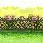 Virágágyás szegély / kerítés fekete 45 x 35 cm