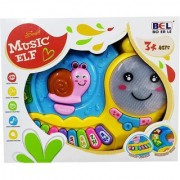 Emob Cute Snail Shaped Piano Musical Learning Toy with Lights Animal Sounds Best Gift For Kids (Multicolor)