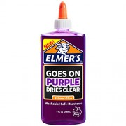 Elmer'S Washable Goes On Purple/Dries Clear School Glue - 9 Ounces