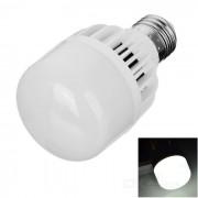 E27 7W LED bombilla lampara luz blanca fria 345lm 12-SMD - blanco + plata