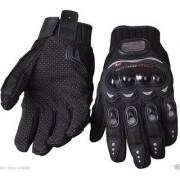 Pro Biker Motorcycle Black Half Cut Gloves