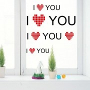Creative Romantic Wall Stickers I Love You Wedding Valentine's Day Wall Paper