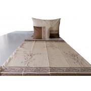 Extra hosszú 140x220 cm 100% pamut ágynemű huzat garnitúra - barna körös
