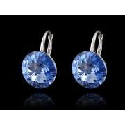 RIVOLI stříbrné visací náušnice Sapphire