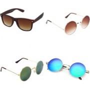 Rich Club Wayfarer, Round Sunglasses(For Boys & Girls)