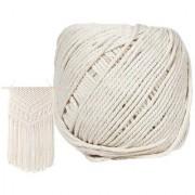 DIY Crafts Natural Cotton Crocheting Bohemia Thread (4 Mm X 110 M)(120 Yards Long)