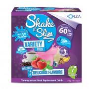 FORZA Shake It Slim - Pasto Sostitutivo - NUOVO Variety Pack -60% di Zuccheri in meno