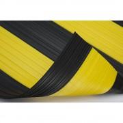 Weich-PVC-Läufer mit geschlossener Oberfläche, pro lfd. m schwarz-gelb, Breite 1000 mm