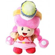 N-L Juguetes de Peluche Super Mario Bros Mushroom Toadtte Adventure Mochila Pink Toadette Soft Stuffed Dolls 20cm