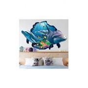 ELECTROPRIME® 3D Dolphins Sea Ocean Waterproof Wall Stickers Vinyl Kid Nursey Decal Home Decor