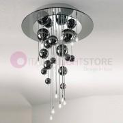 Lam Export Bubbles Plafoniera A Soffitto Con Sfere In Vetro Soffiato H.64 Design Moderno