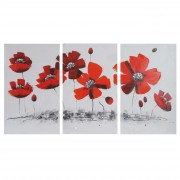 Ölgemälde Mohnblume, 100% handgemaltes Wandbild Gemälde XL, 165x90cm ~ Variantenangebot
