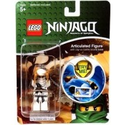 LEGO Ninjago Keychain with Clip-On Battle Sound Base #1749 Zane