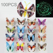 40 Pcs Moda Mariposa Luminosa Con Iman Simulación Imanes De Nevera Etiqueta De La Pared Decoracion De Jardin, Color Al Azar Entrega