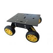 DIY Multipurpose 4 Wheel Robotic Chassis with Motors, wheels Complete Set II 4 Wheel Drive Tank Robot Chassis II Tank Rover Chassis