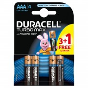 Baterie Duracell Turbo Max AAA LR03 3+1 gratis