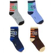 SOFI Full Length Multicolor Mens Socks - Pack of 4