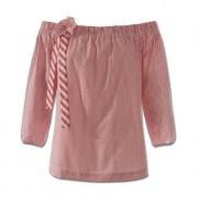 2XM blouse met carmenhals, 36 - rood/wit