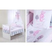 Set lenjerie 5 piese Little Bunny gri-pink Klups