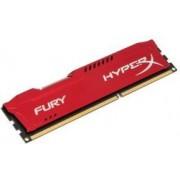 Memorija DIMM DDR3 8GB 1600MHz Kingston HyperX Fury Red CL10, HX316C10FR/8