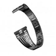 Sector Shape Diamond Metal Watch Band for Samsung Galaxy Watch 46mm / Gear S3 - Black