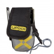 Handy- / PDA-Tasche mit zusätzlichem Gürtel schwarz / grau