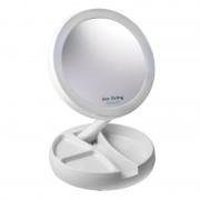 INNOLIVING Увеличително козметично огледало с LED светлина INN-805