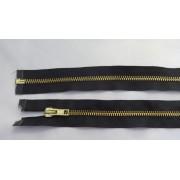 Fém bontható cipzár - húzózár, fekete színű, 55 cm hosszú