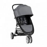Carucior Baby Jogger City Mini 2 Jet, capotina 3 segmente, maner confortabil, roti detasabile, gri