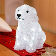 Konstmide Sweet dog as a decorative light with LED, battery