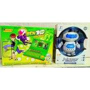 Play Design English Learner Laptop & Dancing Robot 360 Rotating (Multicolor) Combo Pack