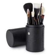 Pensule make-up mix par natural si sintetic la pahar