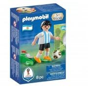 Jugador De Futbol De Argentina Playmobil Con Pelota - 9508