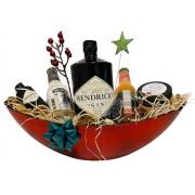 Karácsonyi Hendricks Gines Ajándék csomag piros ovális dísztálban