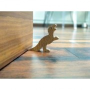 JaamsoRoyals T-Rex Dinosaur Design Small Non-Slip wooden Door Stoppers - To Stop Or Jam the Doors
