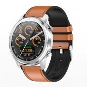 LEMFO LF26 HD IPS Color Screen Health Monitoring Sports Smart Bracelet - Silver/Brown