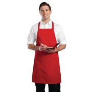 Chef Works Bib Apron Red Size: One Size