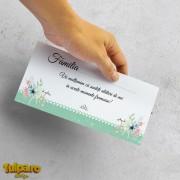 Place card şi plic pentru bani cu motive florale (model 2)