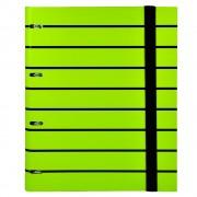 Caiet mecanic A4 Senfort T-Stripes, 4 inele, 120 coli, verde