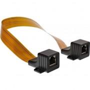 Cablu inline InLine Patch Cable Window feedthrough, 2x RJ45 jack, neecranat, 0,3M (69991I)