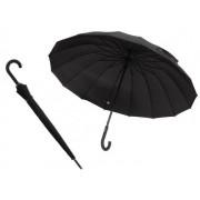 Exkluzívny dáždnik čierny pánsky vystreľovací 16 panelov